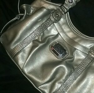 Golden Grey Shining Handbag by Nicole